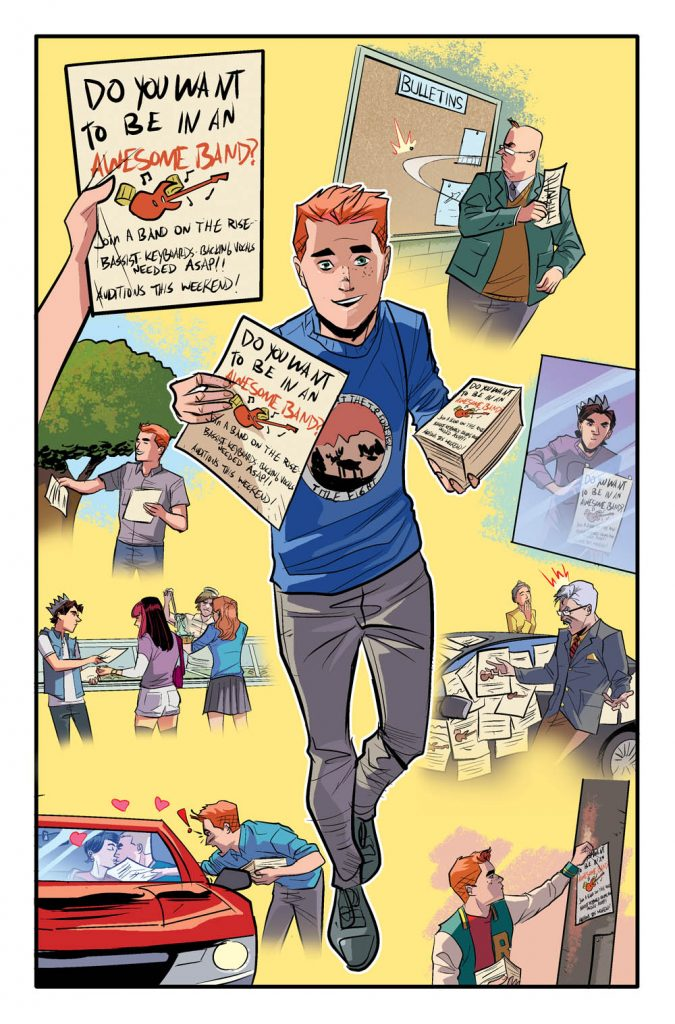 Interior page to 'The Archies'. Art by Joe Eisma and Matt Herms/Archie Comics