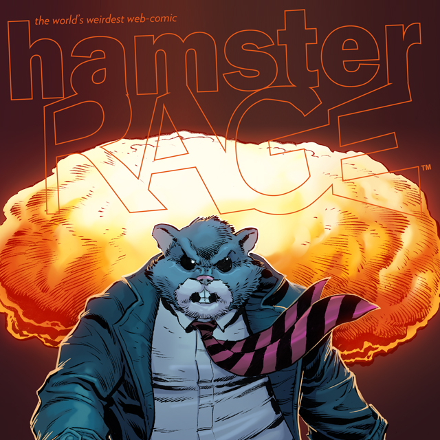 Cover to 'Hamster Rage'. Art by Brian J. Crowley.