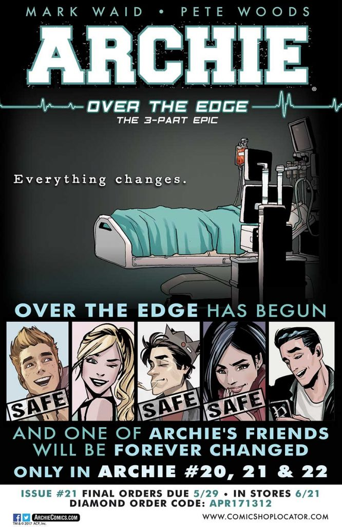 """Over the Edge"" kicks off this week, via Archie Comics"