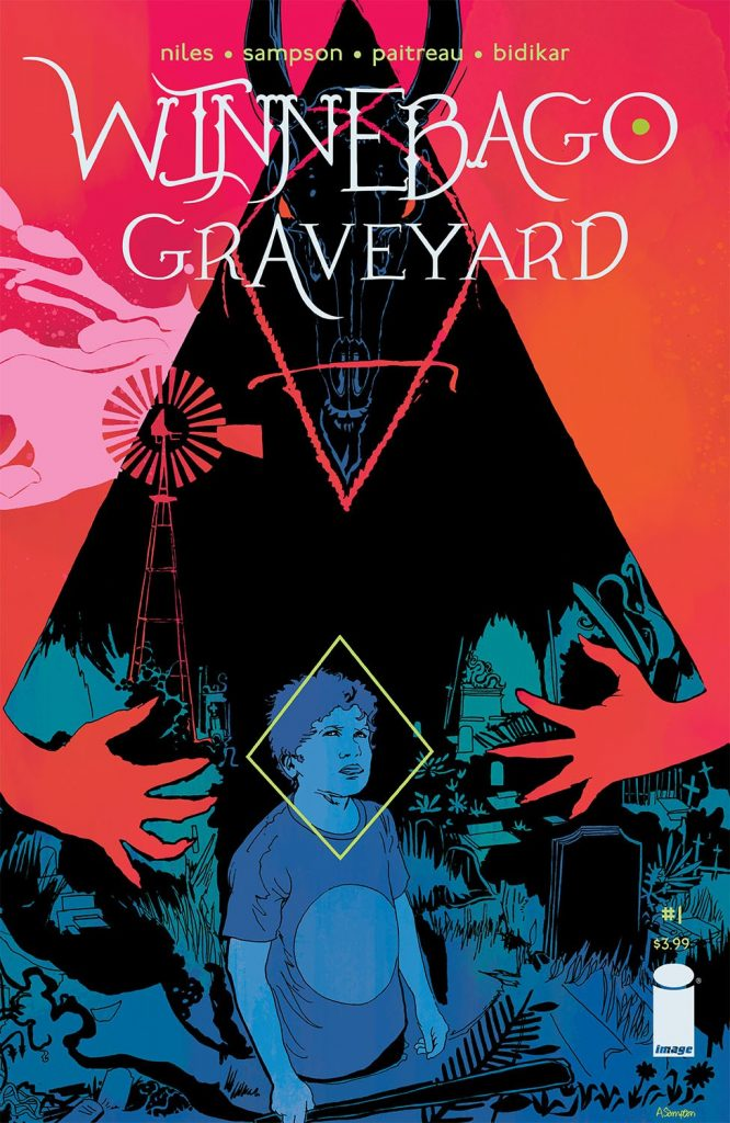 Cover to 'Winnebago Graveyard'. Art by Alison Sampson and Stephanie Paitreau/Image Comics