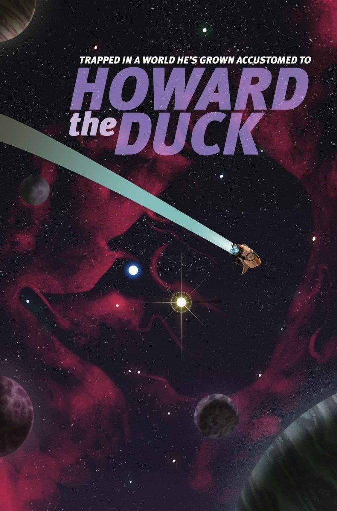 Cover to 'Howard the Duck' #2. Art by Joe Quinones.