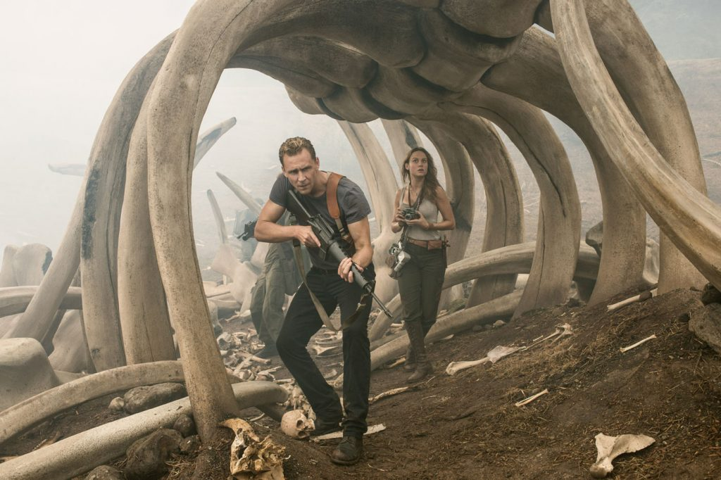 Brie Larson and Tom Hiddleston star in 'Kong: Skull Island', from Warner Bros Pictures