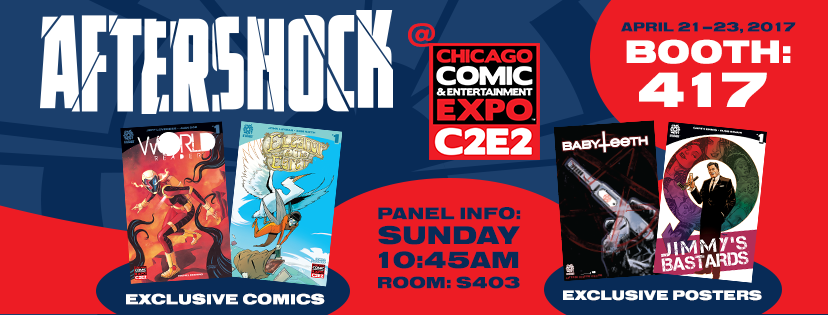 AfterShock Comics' panel is on Sunday, April 23 at 10:45am