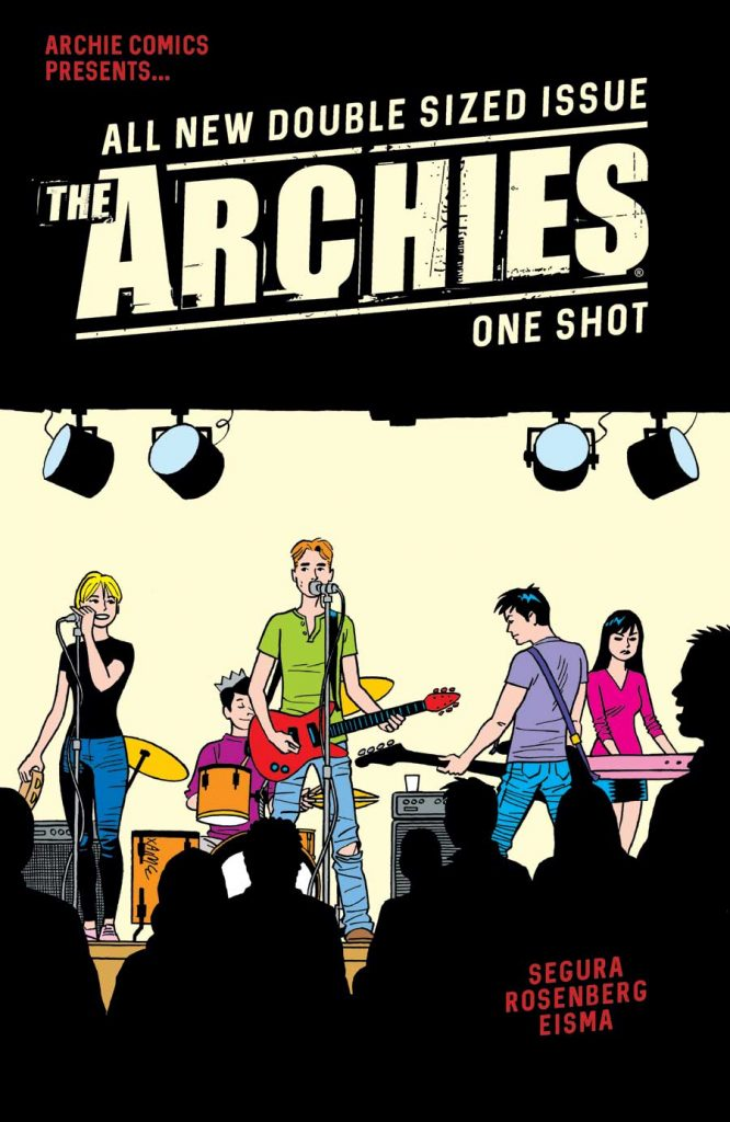 Cover to 'The Archies'. Art by Jaime Hernandez/Archie Comics