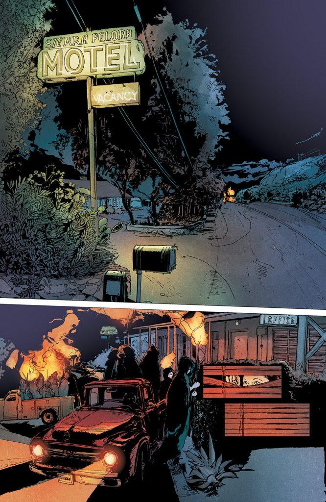 Interior page to 'Winnebago Graveyard'. Art by Alison Sampson and Stephanie Paitreau/Image Comics
