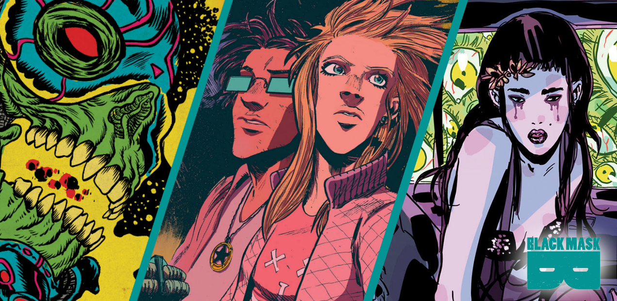 'Quantum Teens are Go', 'Space Riders', and 'There's Nothing There' return in this giant-sized Black Mask preview