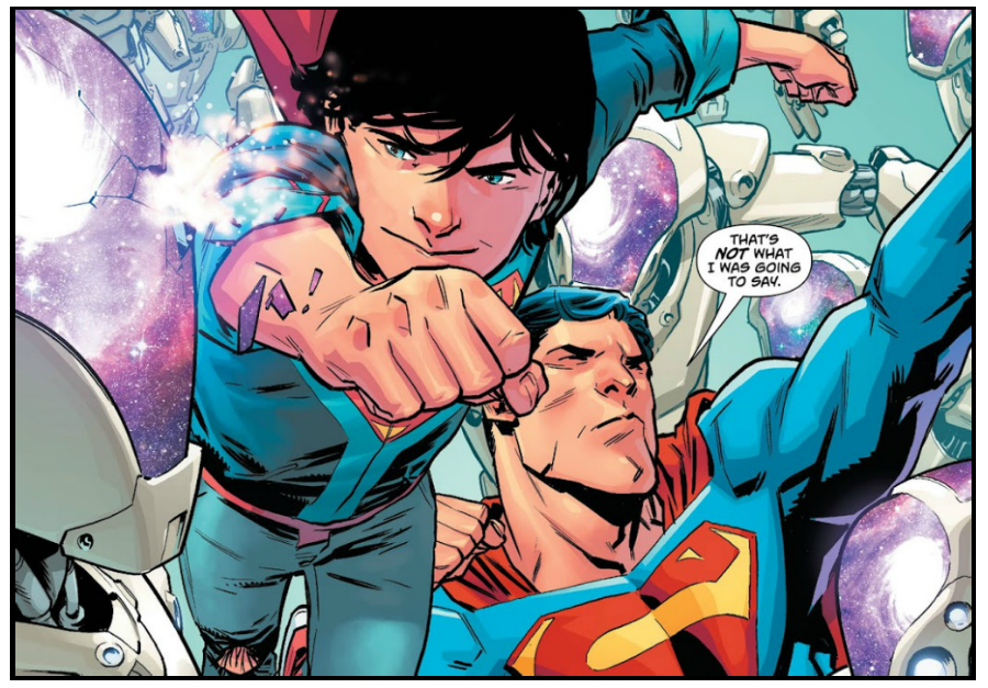 Interior page to 'Superman' #26. Art by Scott Godlewski and Hi-Fi/DC Comics
