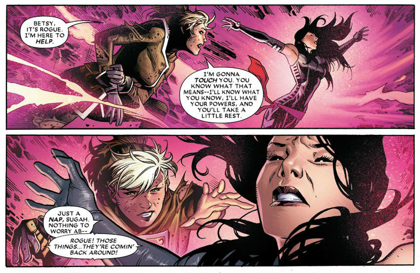 Interior page to 'Amazing X-Men' #1. Art by Jim Cheung, Mark Morales, Guillermo Ortego, Walden Wong, Richard Isanove, and Rain Beredo/Marvel Comics