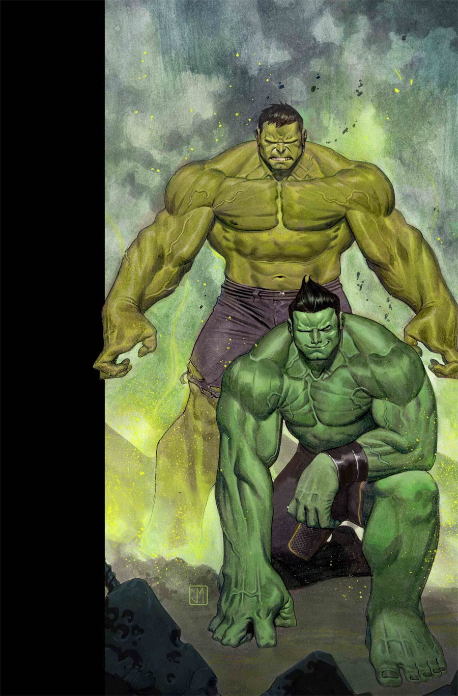Cover to 'Generations: Banner Hulk and the Totally Awesome Hulk' #1. Art by Jorge Molina/Marvel Comics