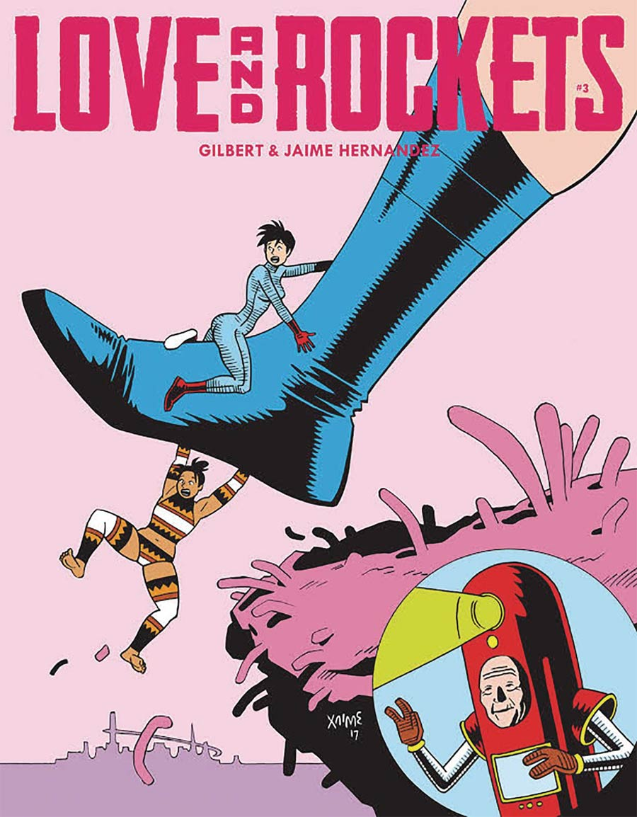 Cover to 'Love and Rockets' #3. Art by Jaime Hernandez/Fantagraphics Press