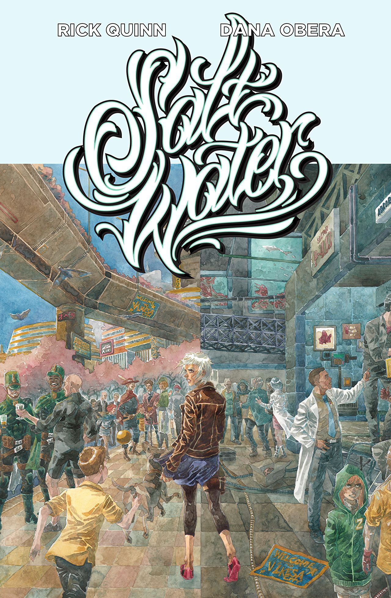 Cover to 'Saltwater: The Anarchy of Water'. Art by Dana Obera/Aurora Comics