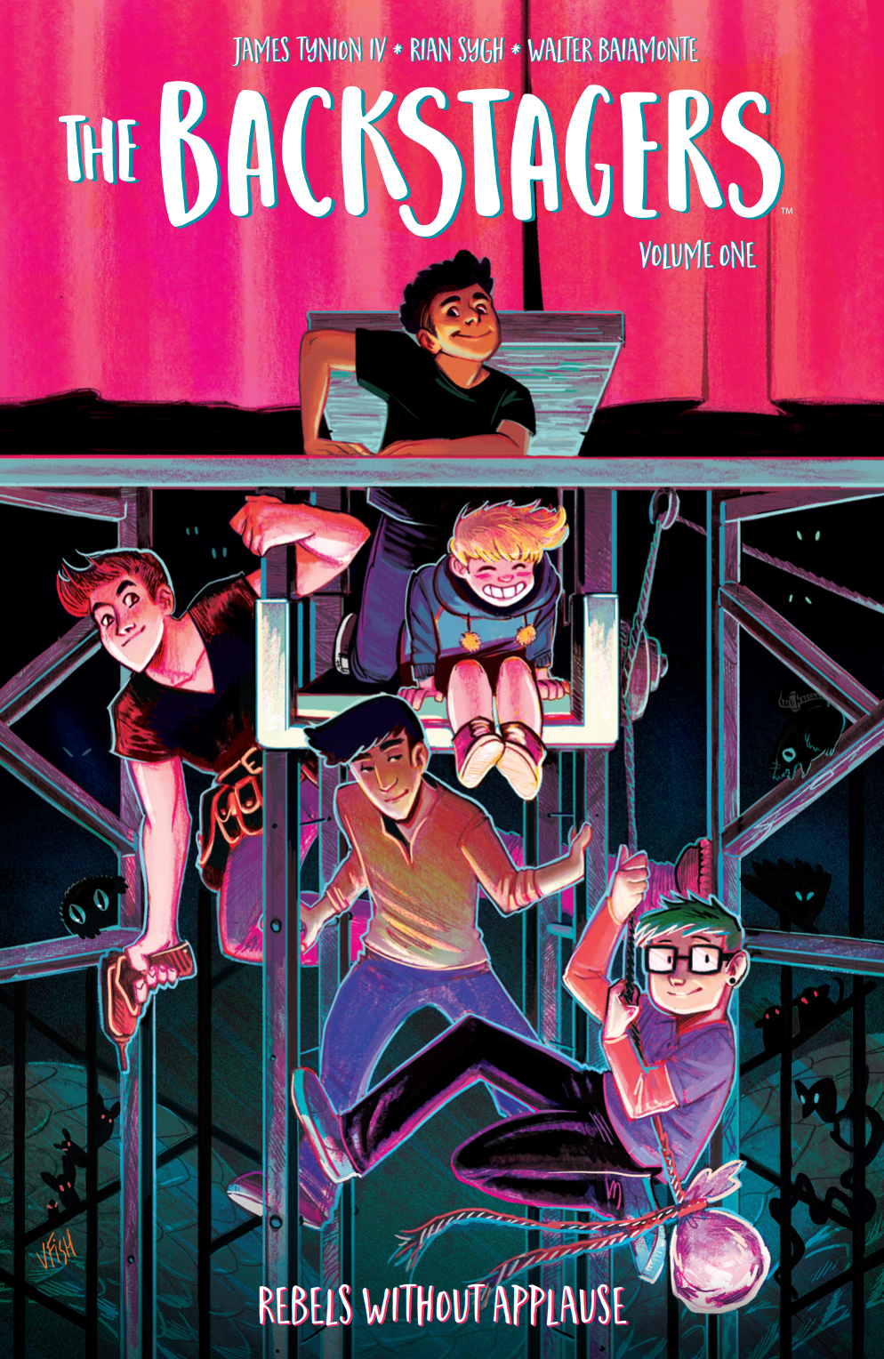 Cover to 'The Backstagers' TPB. Art by Veronica Fish/BOOM! Studios