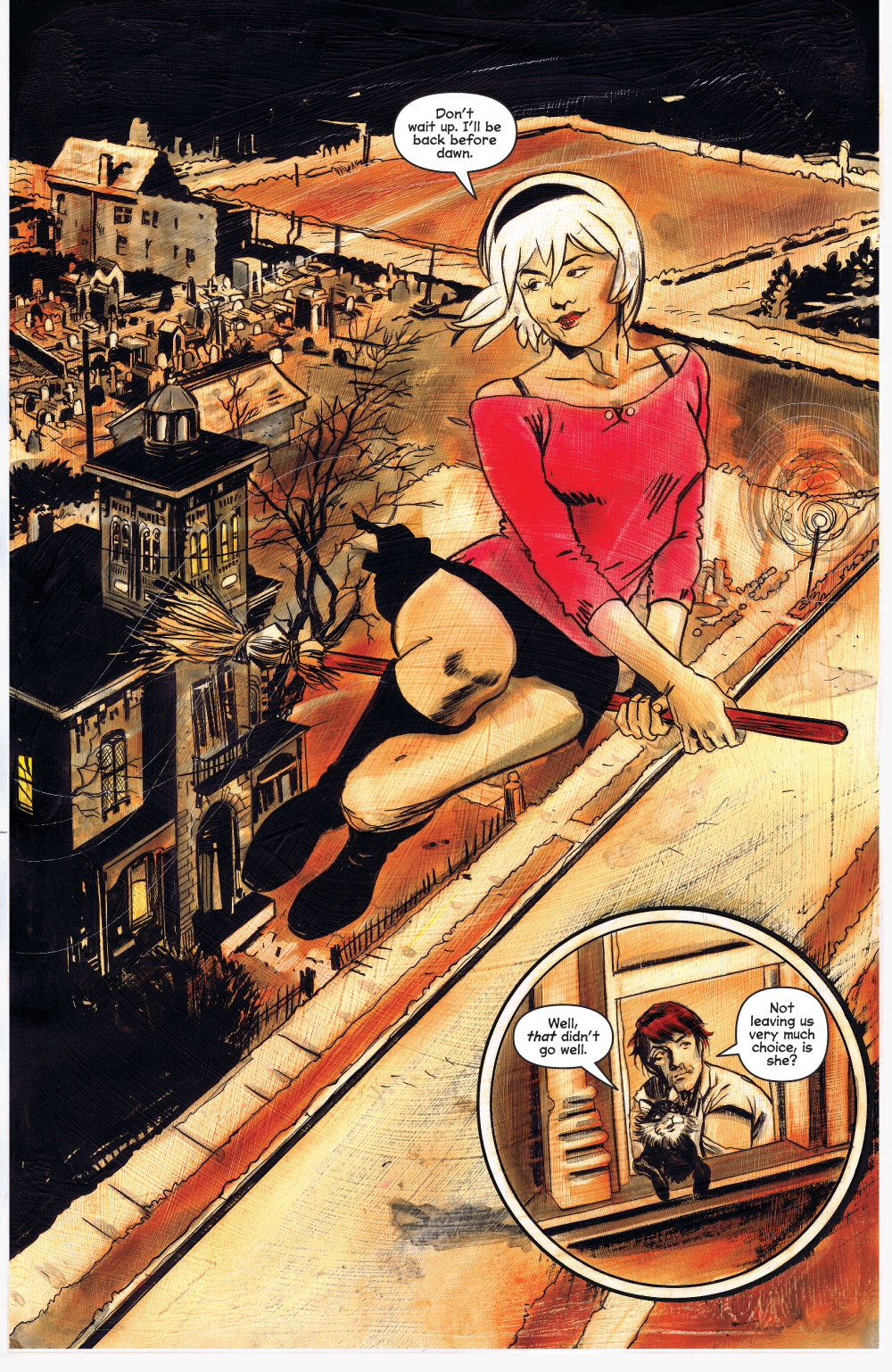 Interior page to 'Chilling Adventures of Sabrina #8. Art by Robert Hack/Archie Comics