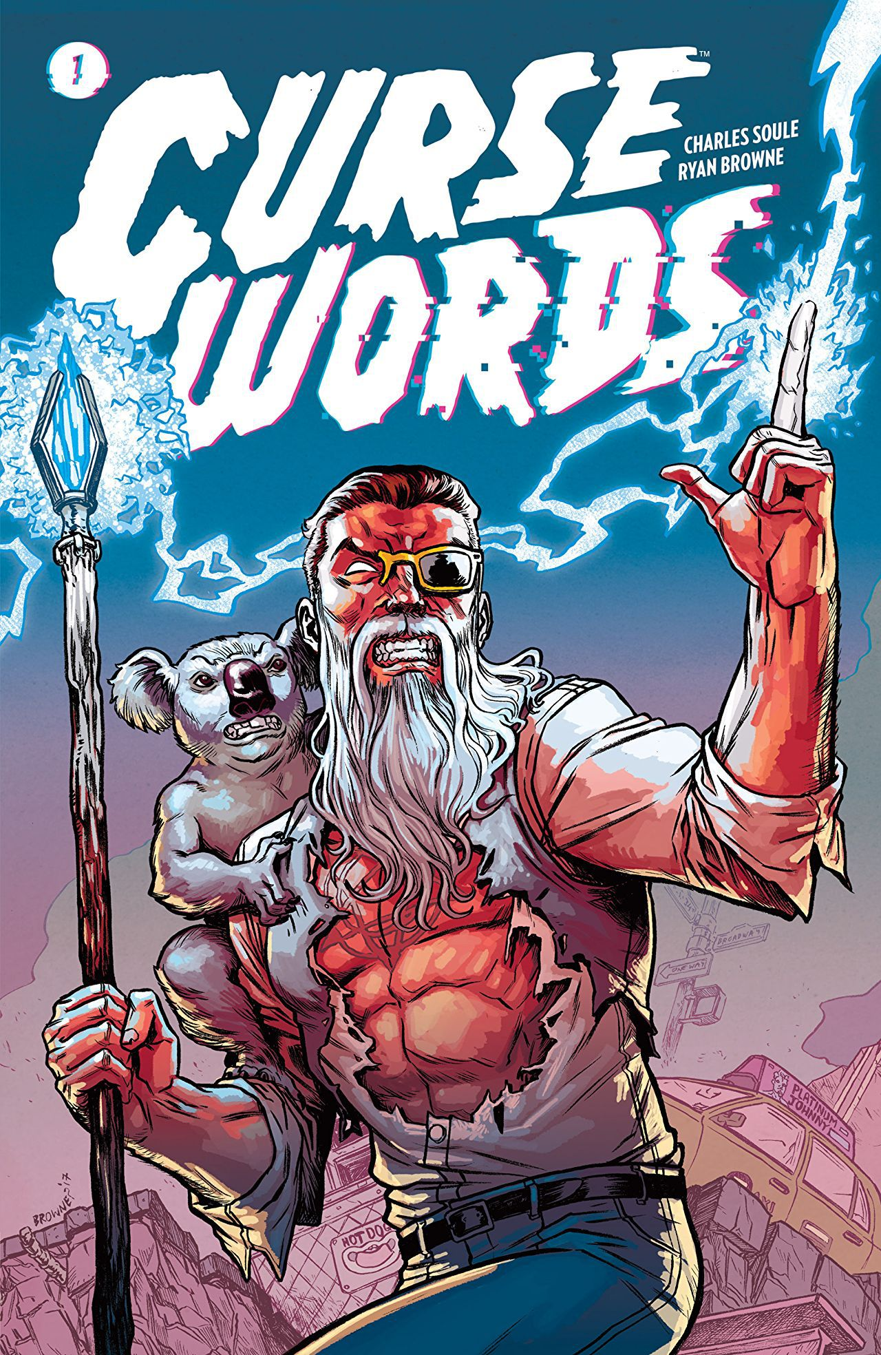 Cover to 'Curse Words' Vol. 1 TPB. Art by Ryan Browne and Michael Garland/Image Comics