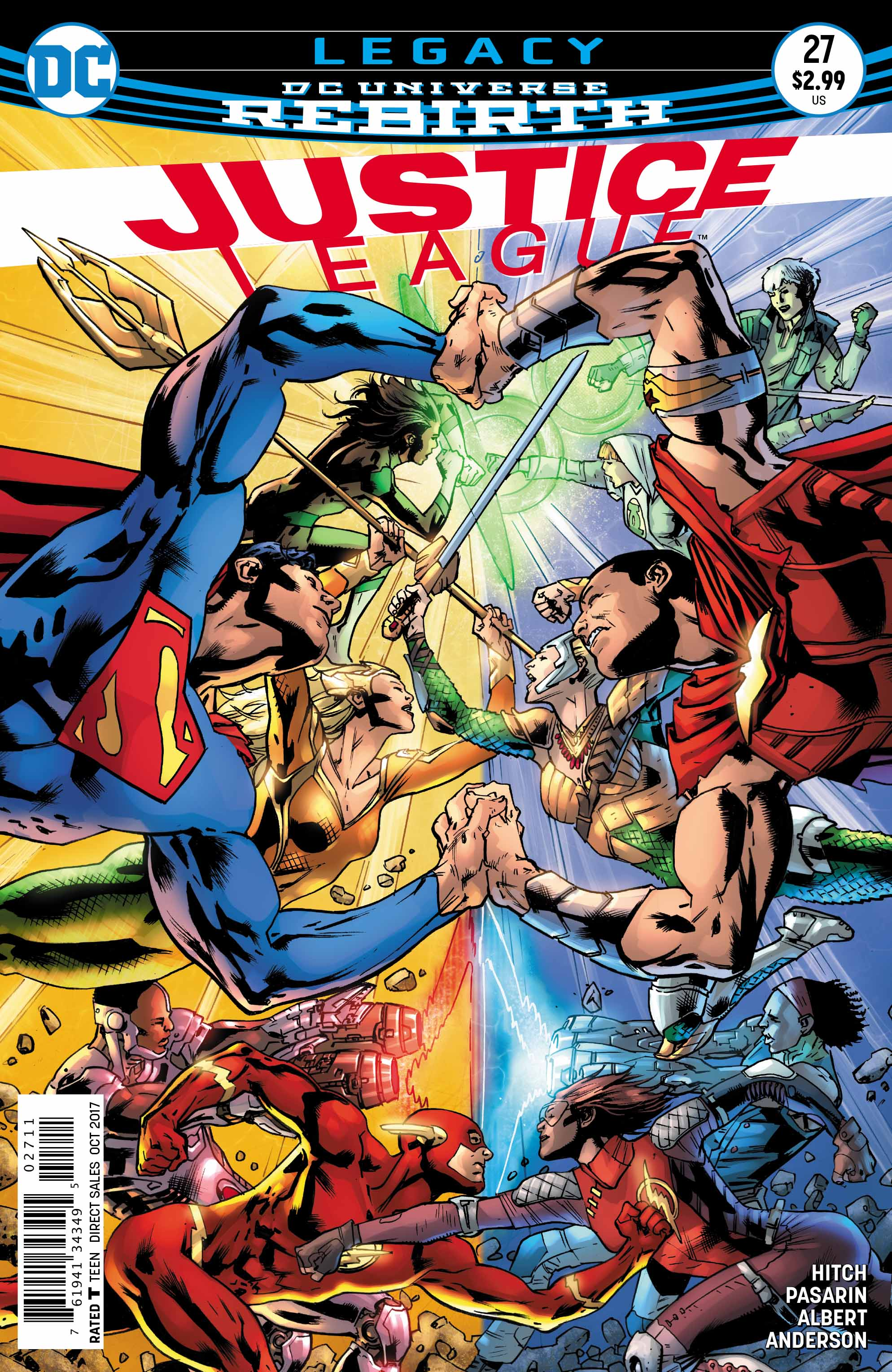 The cover to Justice League #27