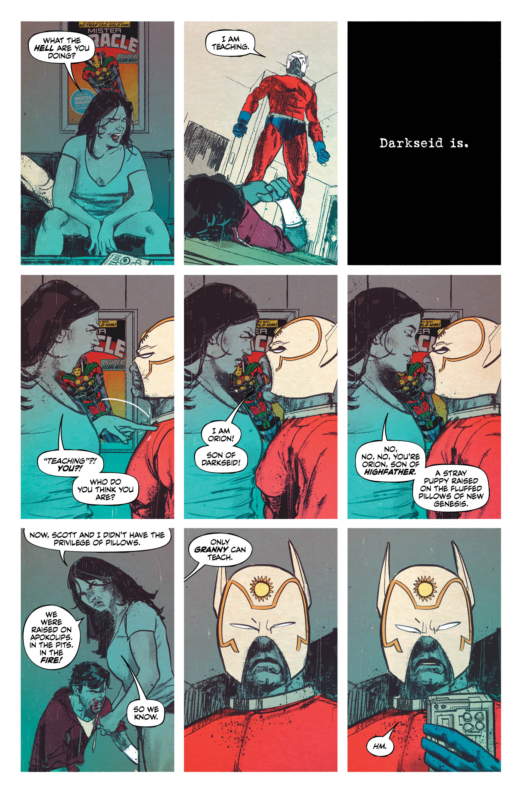 Interior page to 'Mister Miracle' #1. Art by Mitch Gerads/DC Comics