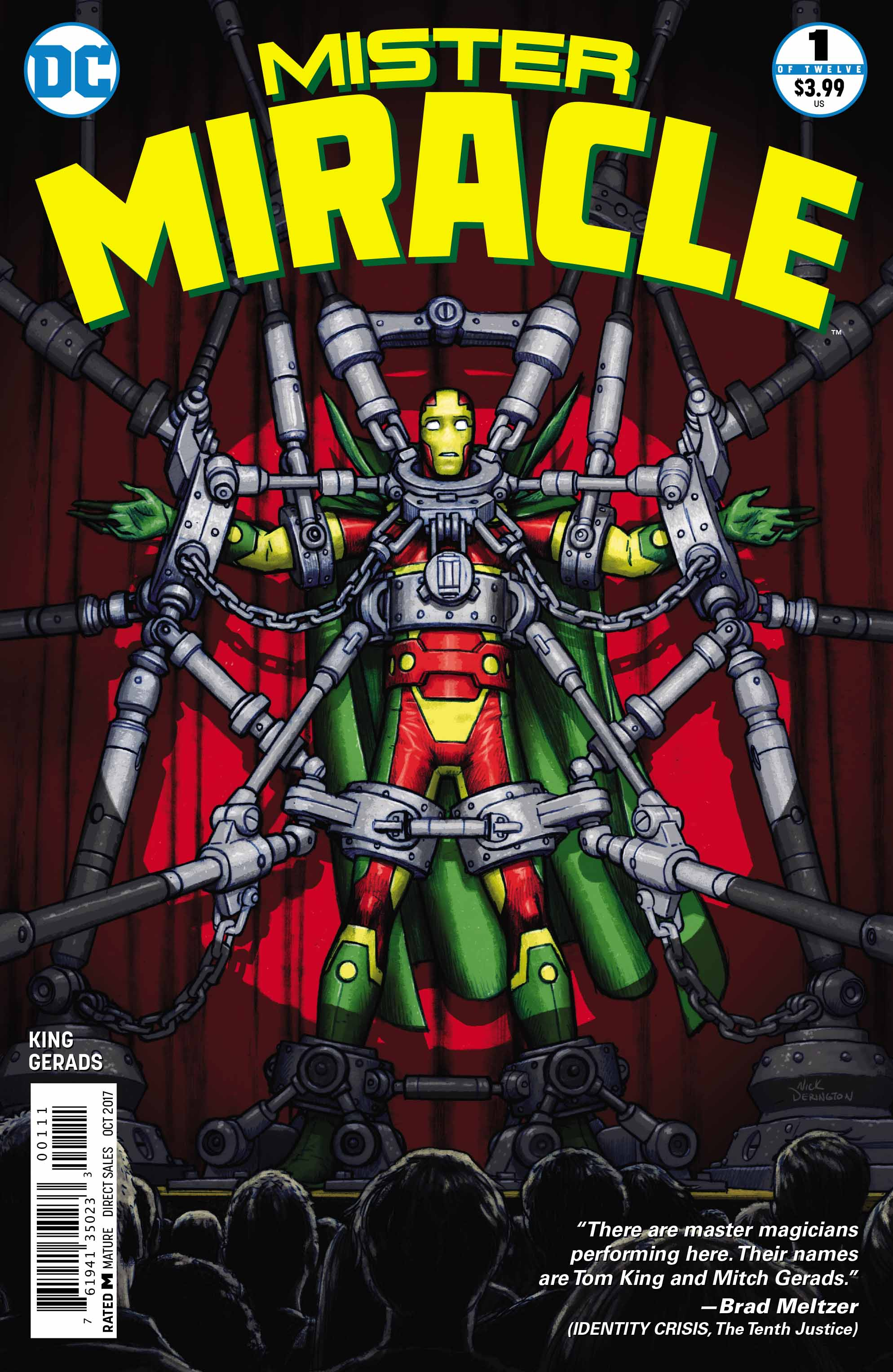 Cover to 'Mister Miracle' #1. Art by Nick Derington/DC Comics
