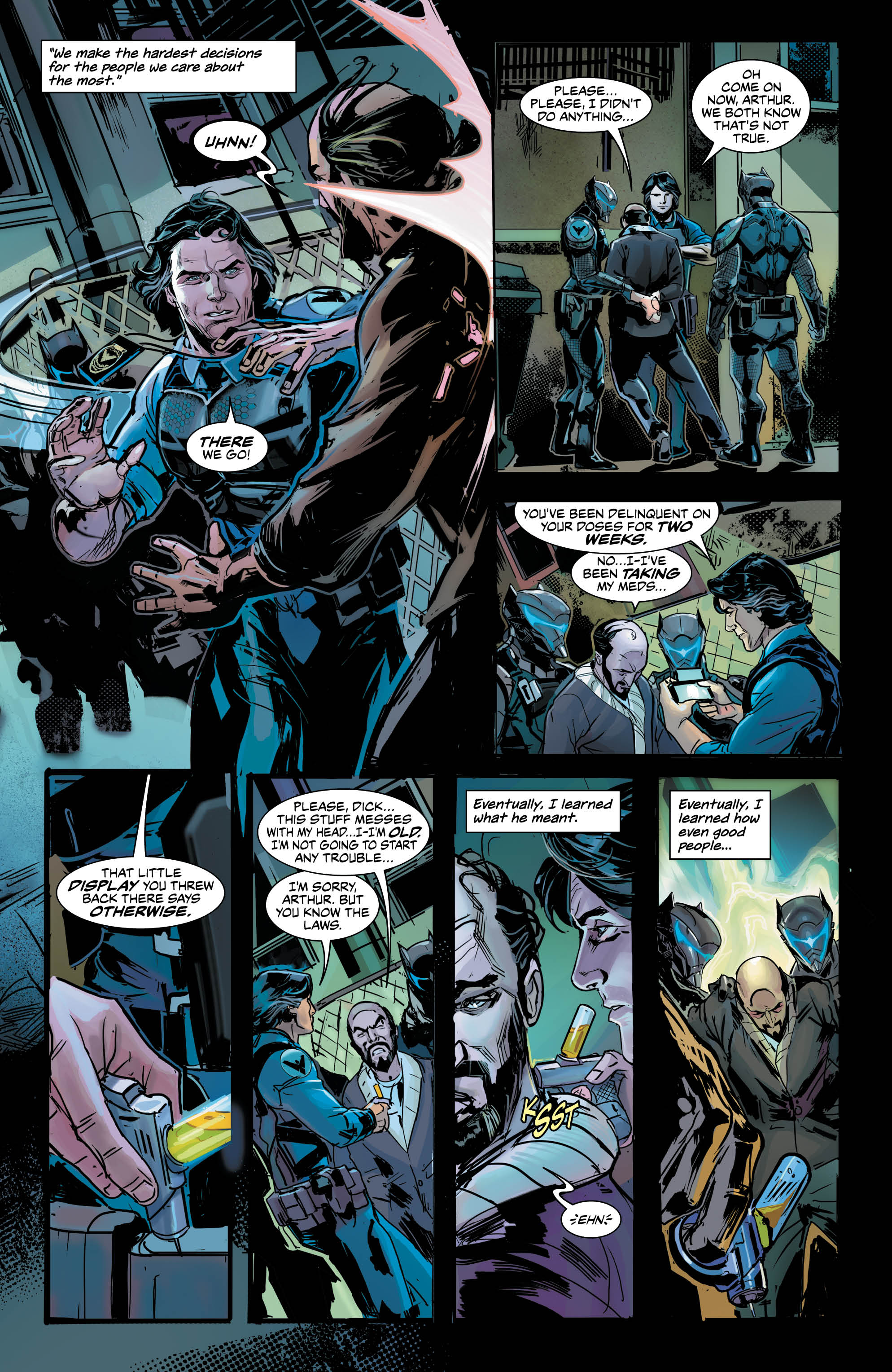 'Nightwing: The New Order' #1. Art by Trevor McCarthy and Dean White/DC Comics