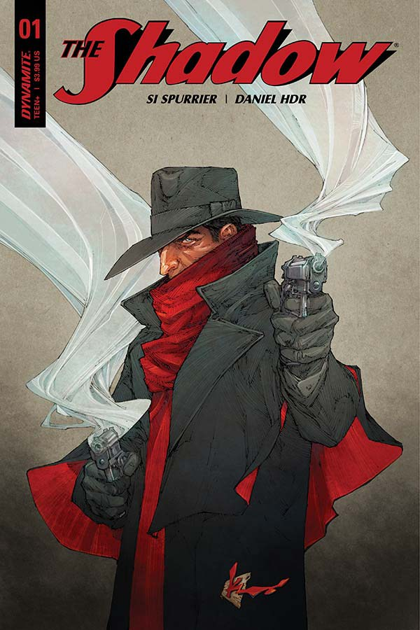 Cover to 'The Shadow' #1. Art by Kenneth Rocafort/Dynamite