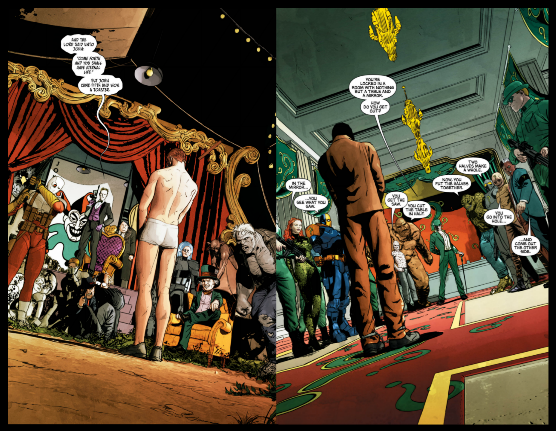 Interior pages from 'Batman' #28. Art by Mikel Janín and June Chung/DC Comics