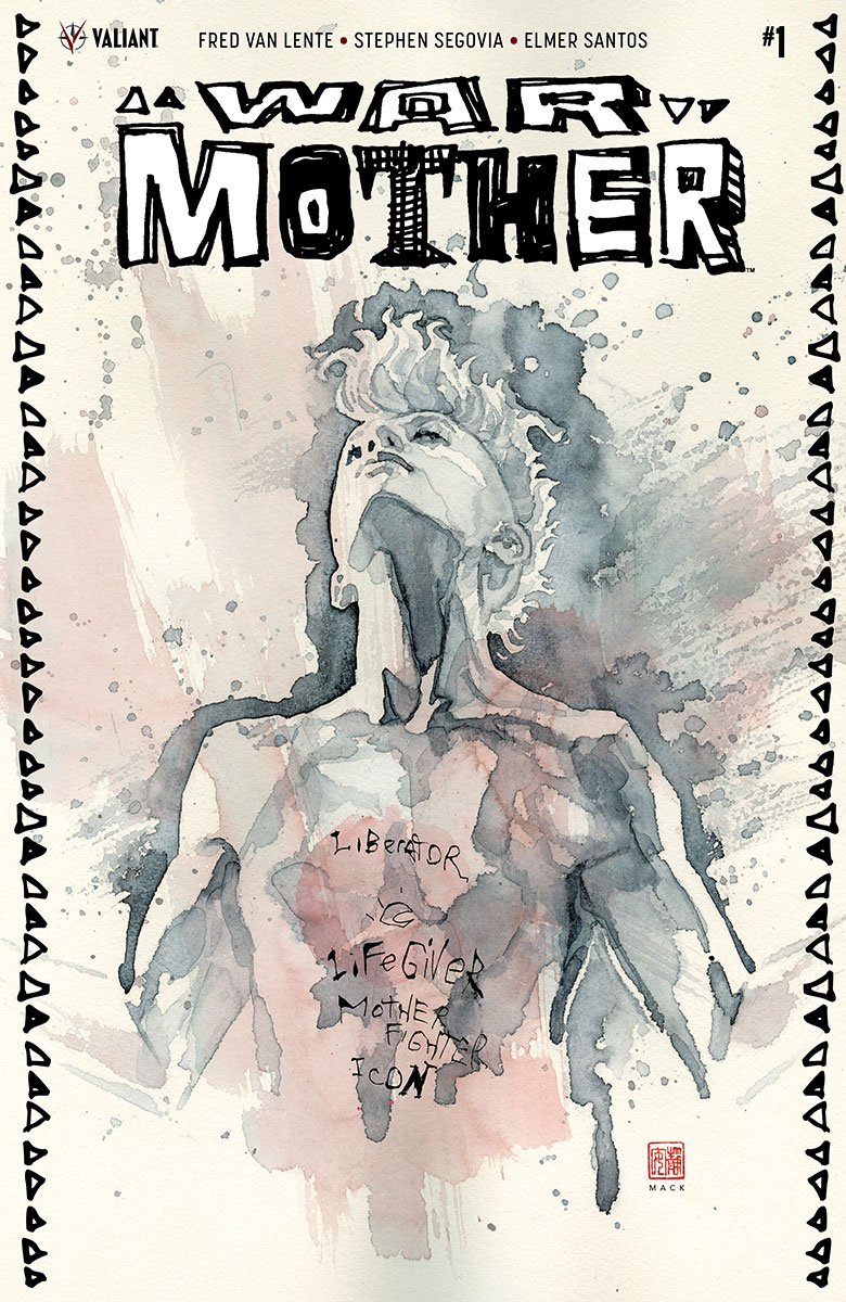 Cover to 'War Mother' #1. Art by David Mack/Valiant