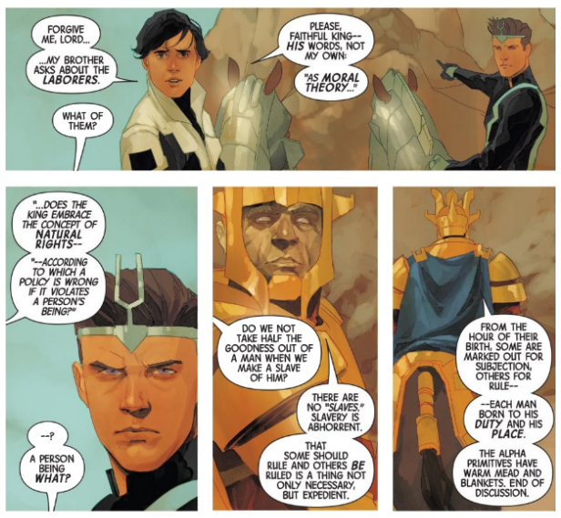 Interior panels from 'Inhumans: Once and Future Kings' #1. Art by Phil Noto/Marvel Comics