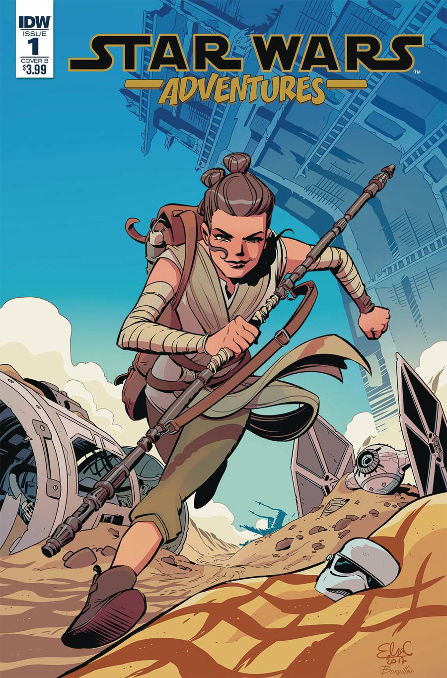 Star Wars Adventures #1, by Elsa Charretier. (IDW Publishing)