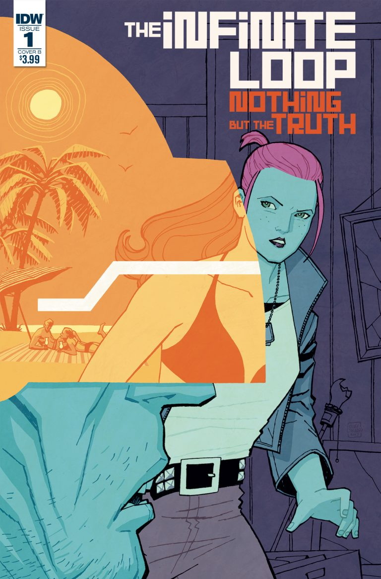 Variant to 'The Infinite Loop: Nothing But the Truth' #1. Art by Cliff Chiang/IDW Publishing