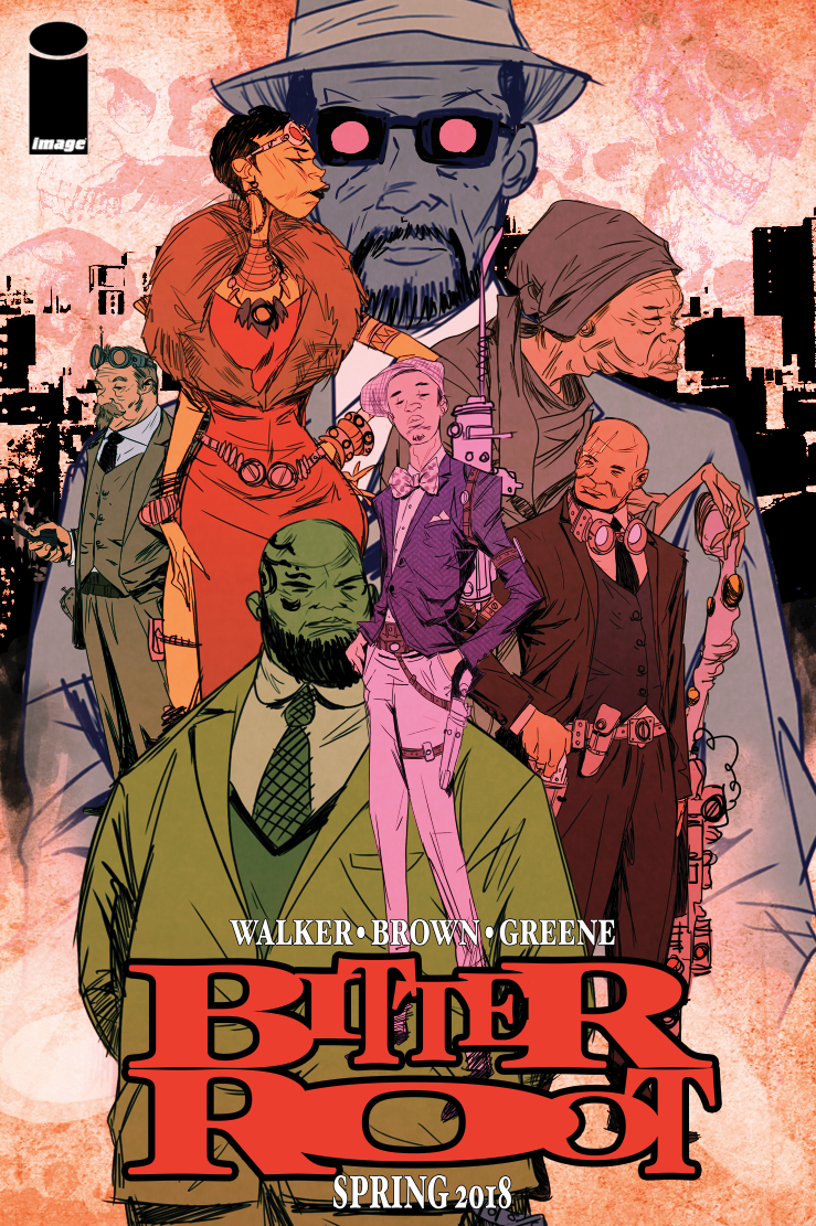 Cover to 'Bitter Root' #1. Art by Sanford Greene/Image Comics