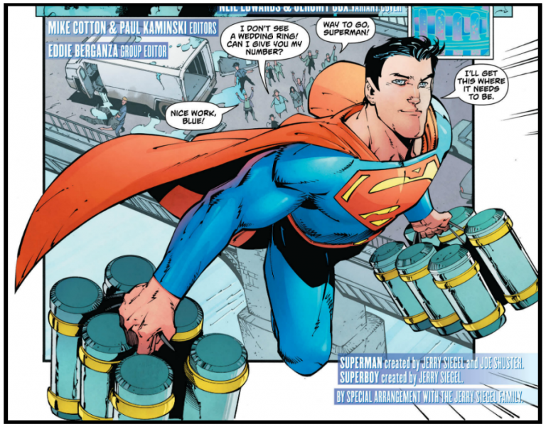 Interior panel to 'Action Comics' #987. Art by Viktor Bogdanovic, Jonathan Glapion, Jay Liesten, and Mike Spicer/DC Comics