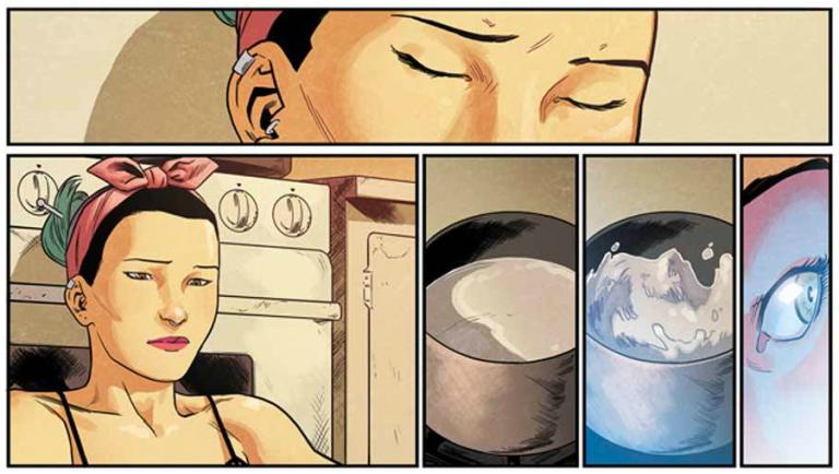 Interior panel from 'Runaways' #1. Art by Kris Anka and Matthew Wilson/Marvel Comics