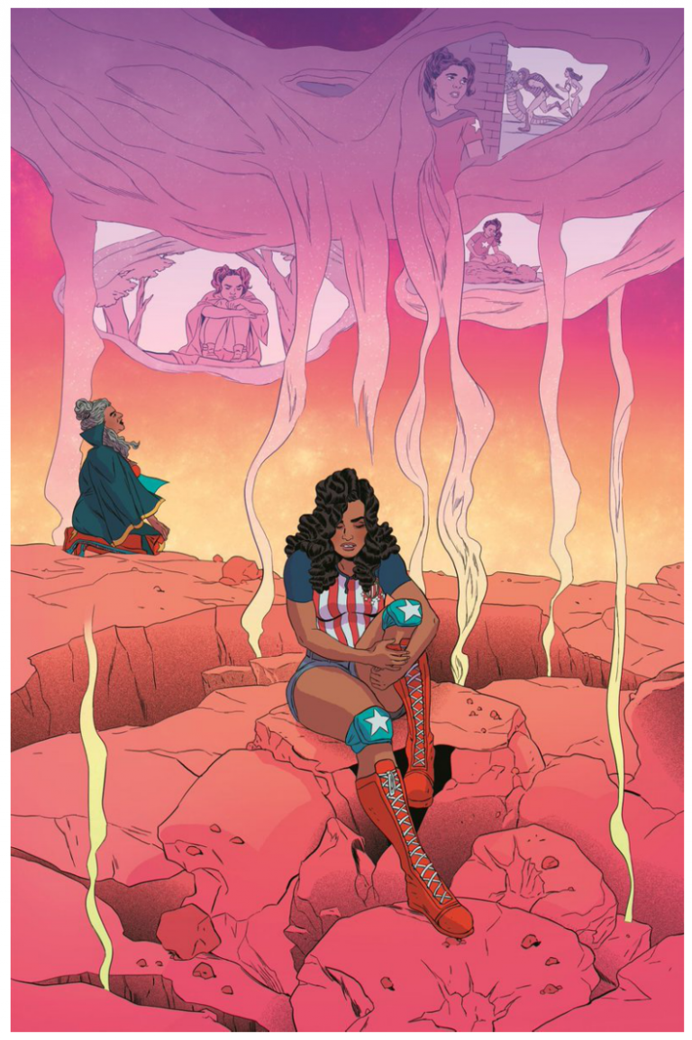 Interior page from 'America' #7. Art by Ming Doyle and Rachelle Rosenberg/Marvel Comics