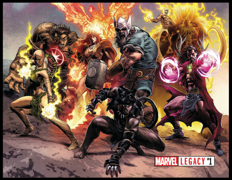 Promotional image for 'Marvel Legacy' #1. Art by Mike Deodato, Jr. and Matthew Wilson/Marvel Comics