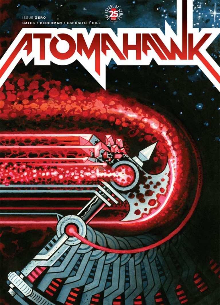 Cover to 'Atomahawk' #0. Art by  Ian Bederman/Image Comics