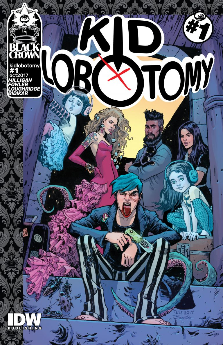 Kid Lobotomy #1, by Frank Quitely, Tess Fowler and Tamra Bonvillain. (Black Crown/IDW Publishing)
