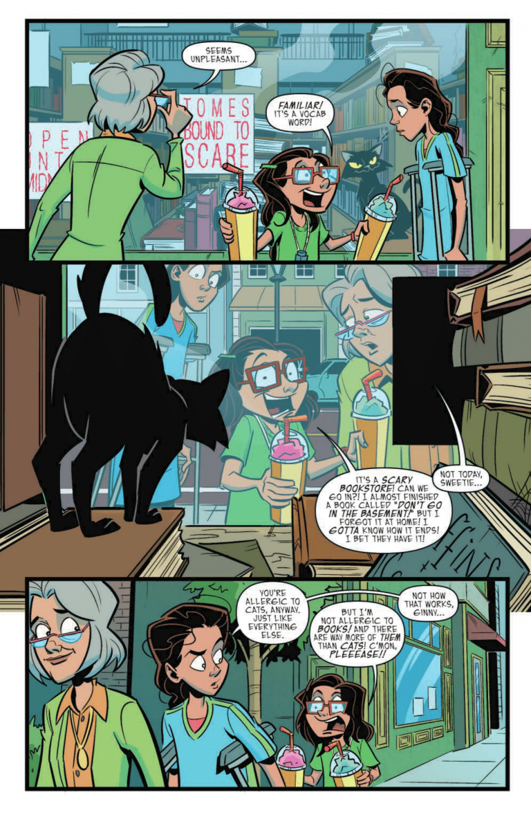 Interior page from 'Goosebumps: Monsters at Midnight' #1. Art by Chris Fenoglio and Christa Miesner/IDW Publishing