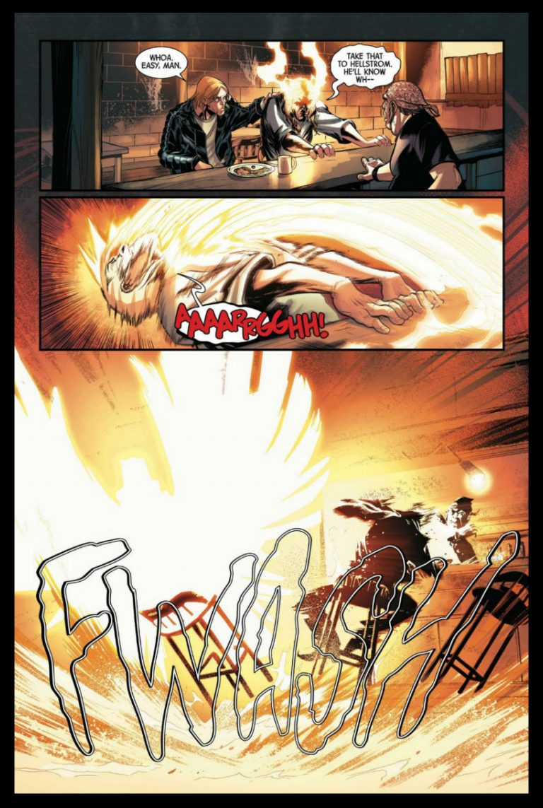Interior page to 'Spirits of Vengeance' #1. Art by David Baldeon, Anthony Piper, and Andres Mossa/Marvel Comics