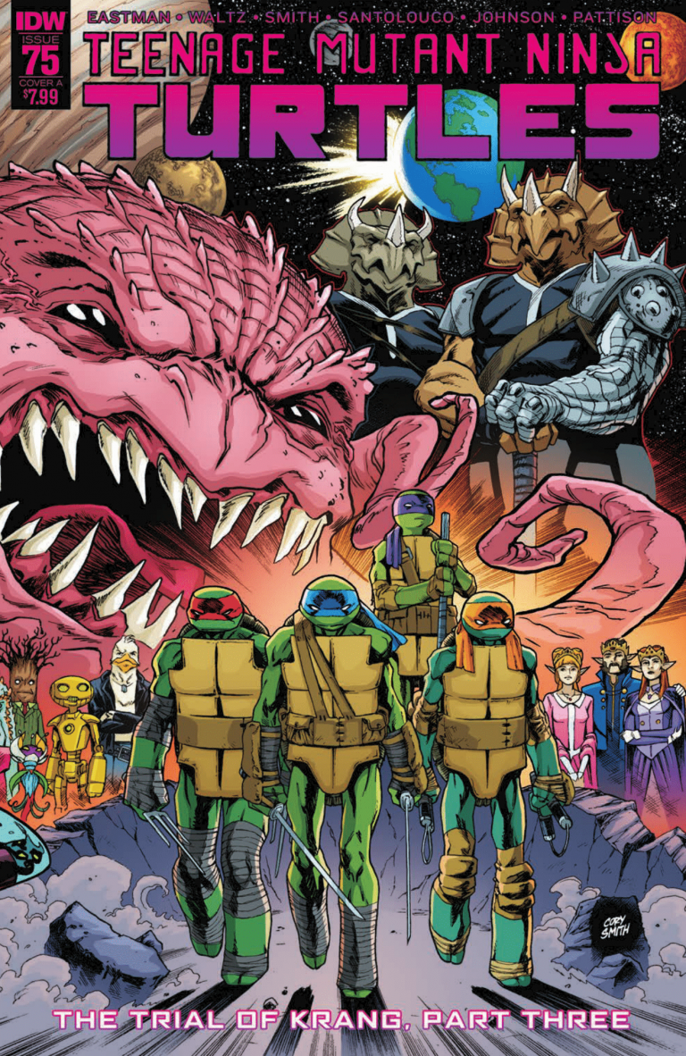 Cover to 'Teenage Mutant Ninja Turtles' #75. Art by Cory Smith and Ronda Pattison/IDW Publishing