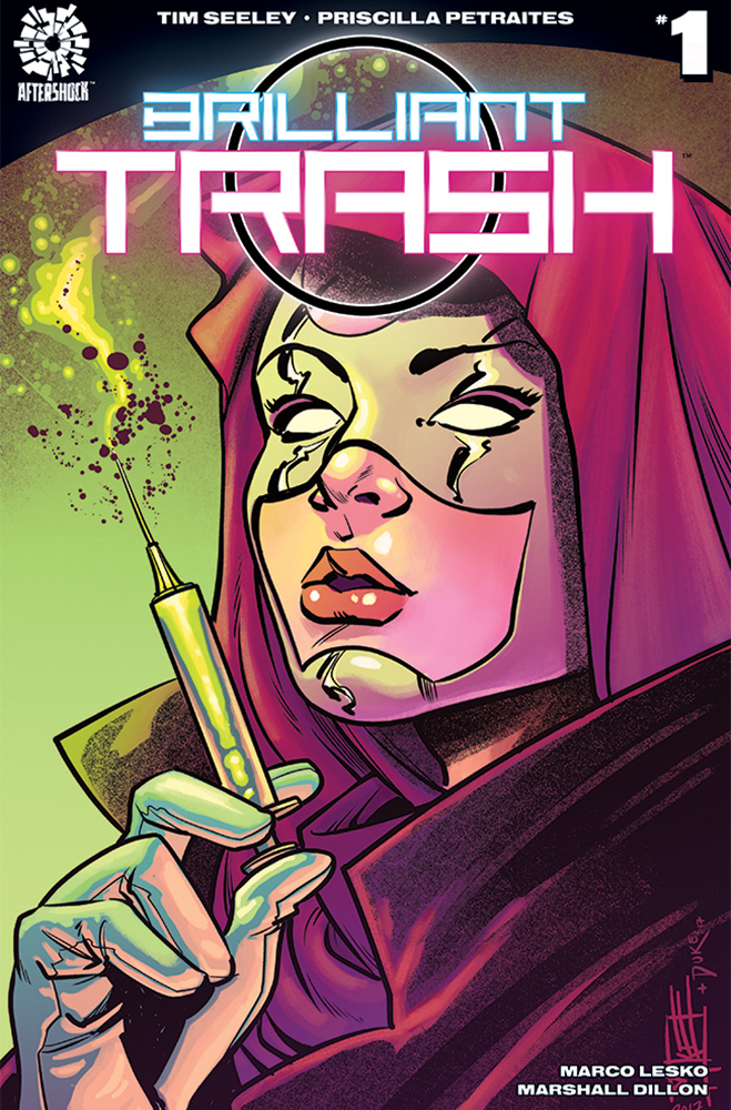 Cover to 'Brilliant Trash' #1. Art by Mike Norton/AfterShock Comics