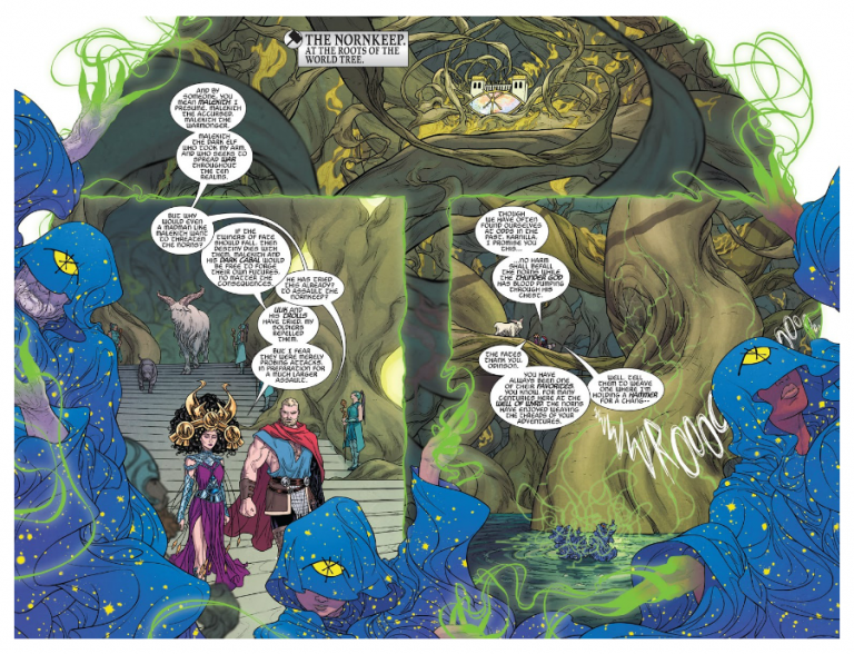 Interior pages from 'The Mighty Thor' #700. Art by Russell Dauterman and Matthew Wilson/Marvel Comics