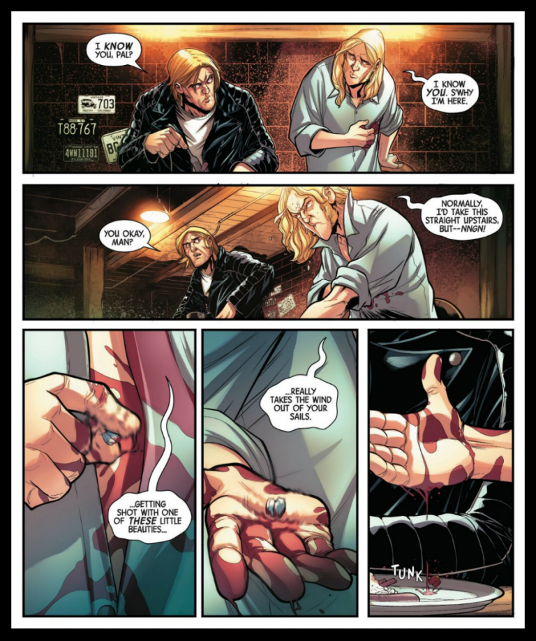 Interior panels to 'Spirits of Vengeance' #1. Art by David Baldeon, Anthony Piper, and Andres Mossa/Marvel Comics