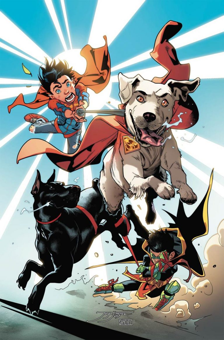 Super Sons Annual #1, by Jorge Jimenez and Alejandro Sanchez. (DC Comics)