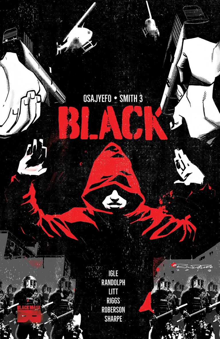 Cover to 'Black' TPB. Art by Khary Randolph and Tim Smith 3/Black Mask Studios