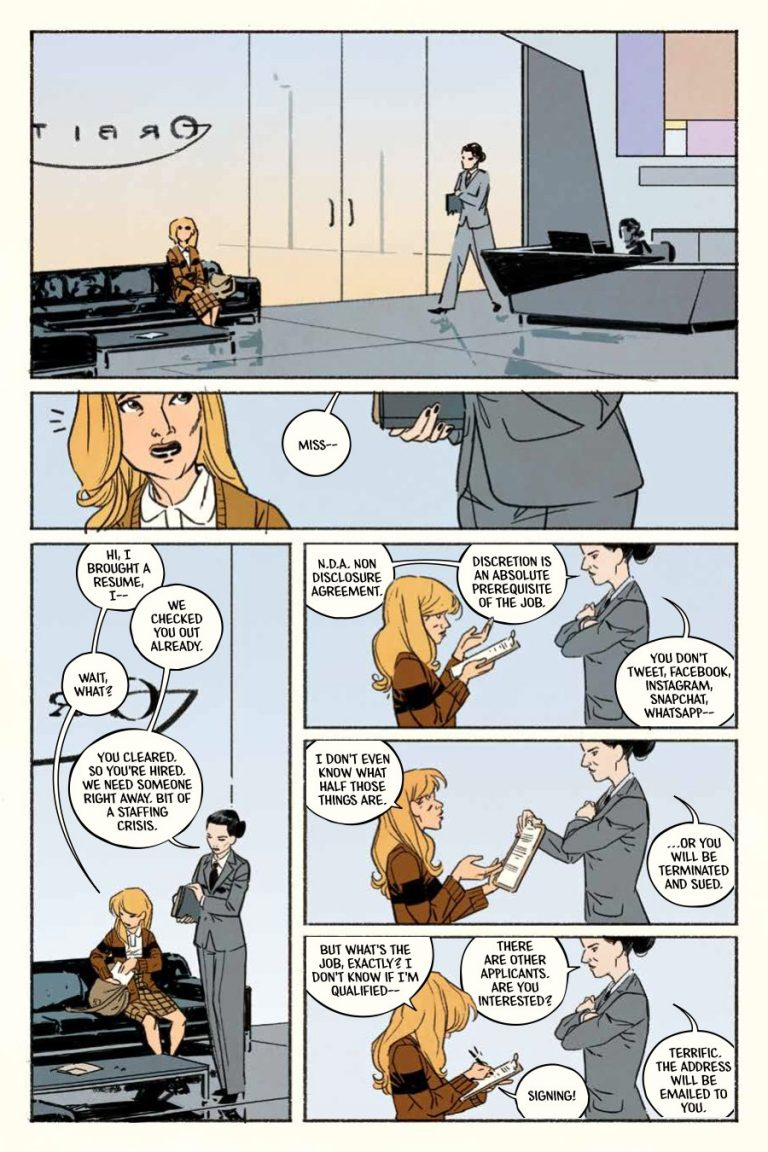 Interior page from 'Jane' HC. Art Ramón Pérez, Irma Kniivila, and Deron Bennett/Archaia/BOOM! Studios
