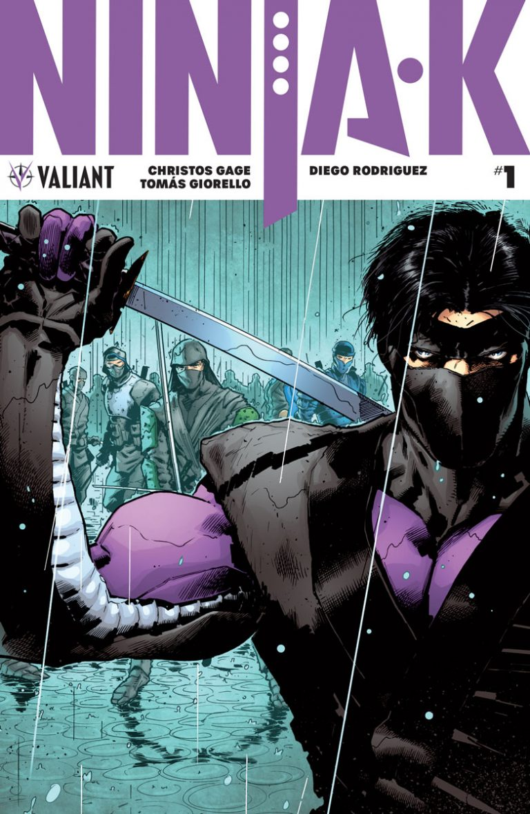 Cover to 'Ninja-K' #1. Art by Trevor Hairsine and David Baron/Valiant