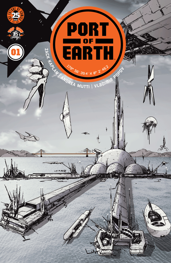 Cover to 'Port of Earth' #1. Art by Andrea Mutti and Vladimir Popov/Image Comics