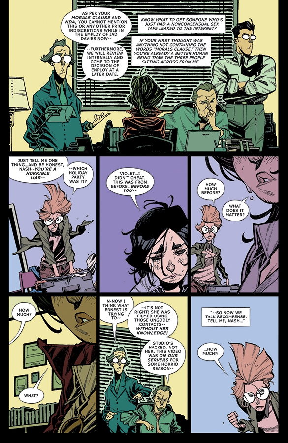 Interior page from 'No. 1 With a Bullet' #2 Art by Jorge Corona, Jen Hickman, and Steve Wands/Image Comics