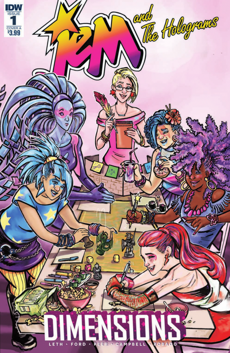 Cover to 'Jem and the Holograms: Dimensions' #1. Art by Tana Ford and Brittany Peer/IDW Publishing