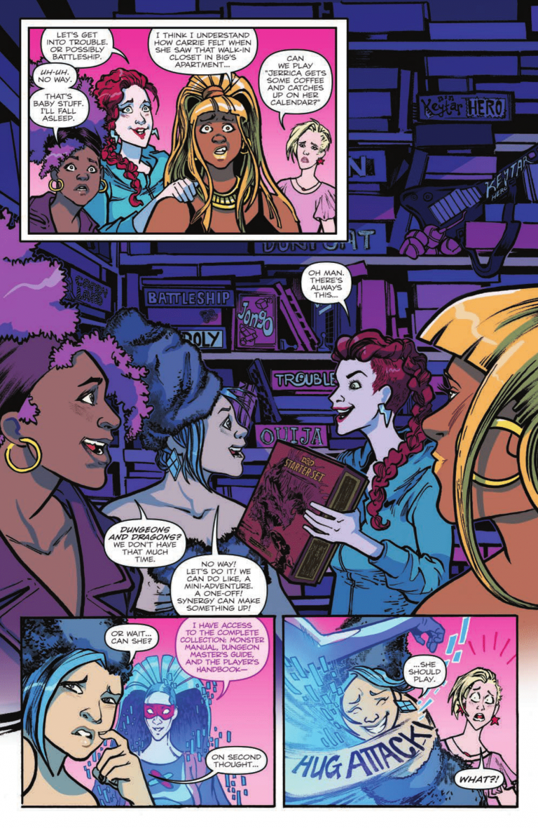 Interior page from 'Jem and the Holograms: Dimensions' #1. Art by Tana Ford, Brittany Peer and Shawn Lee/IDW Publishing