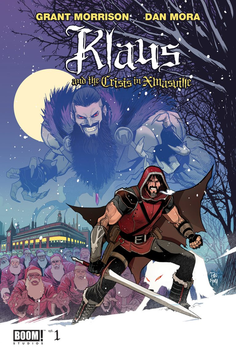 Cover to 'Klaus and the Crisis in Xmasville' #1. Art by Dan Mora/BOOM! Studios